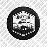 JEEP SPARE TIRE cover Bear Adventure Badge Jeep Wrangler Jk Tj Lj Yj Cj Unlimited 4X4 Heart Nature Moab Sahara (30''-33'' Tire)