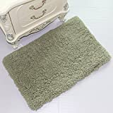 Bathroom Mat Rubber Noahas Soft Microfiber Bath Mat Non-slip Rubber Luxury Rugs for Bathroom Bedroom Living Room Home Decor 17.7 x 27.5IN, Pale khaki