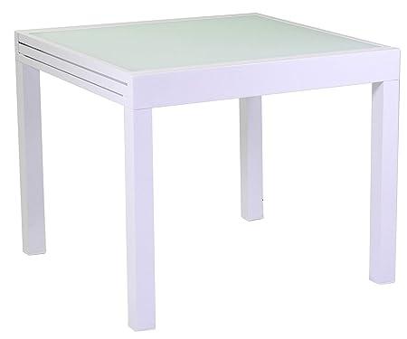 Tavolo Da Giardino Quadrato Allungabile.Adami Tavolo Quadrato Allungabile Da Giardino 90x90 Cm In