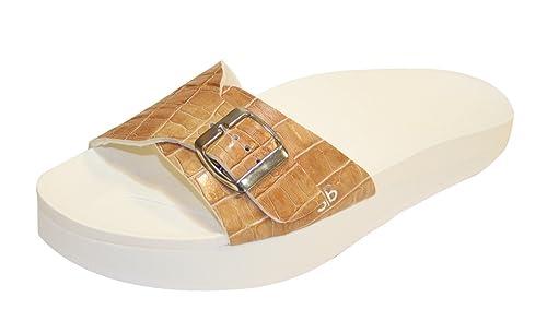 Beautystep Aktiv Fitness Sandale braun Krokodesign