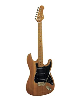 Guitarra eléctrica PATRON GLOSS con accesorios, ámbar - Guitarra para principiantes / Instrumento de cuerda - klangbeisser: Amazon.es: Hogar