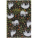 Studio Oh! SJ002 Hardcover Spiral Notebook, The Sloth Life