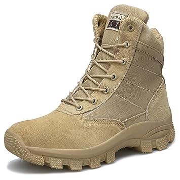 SHANLY Lado del Hombre Zip Desierto Bota De Combate Cordones Ups Zapato Militar Zapato Táctico Zapatos