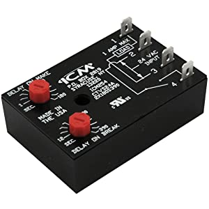 ICM Controls ICM254 Fan Delay Timer, Dual On/Off Adjustable Delays, On 1-180 Seconds/Off 12-390 Seconds
