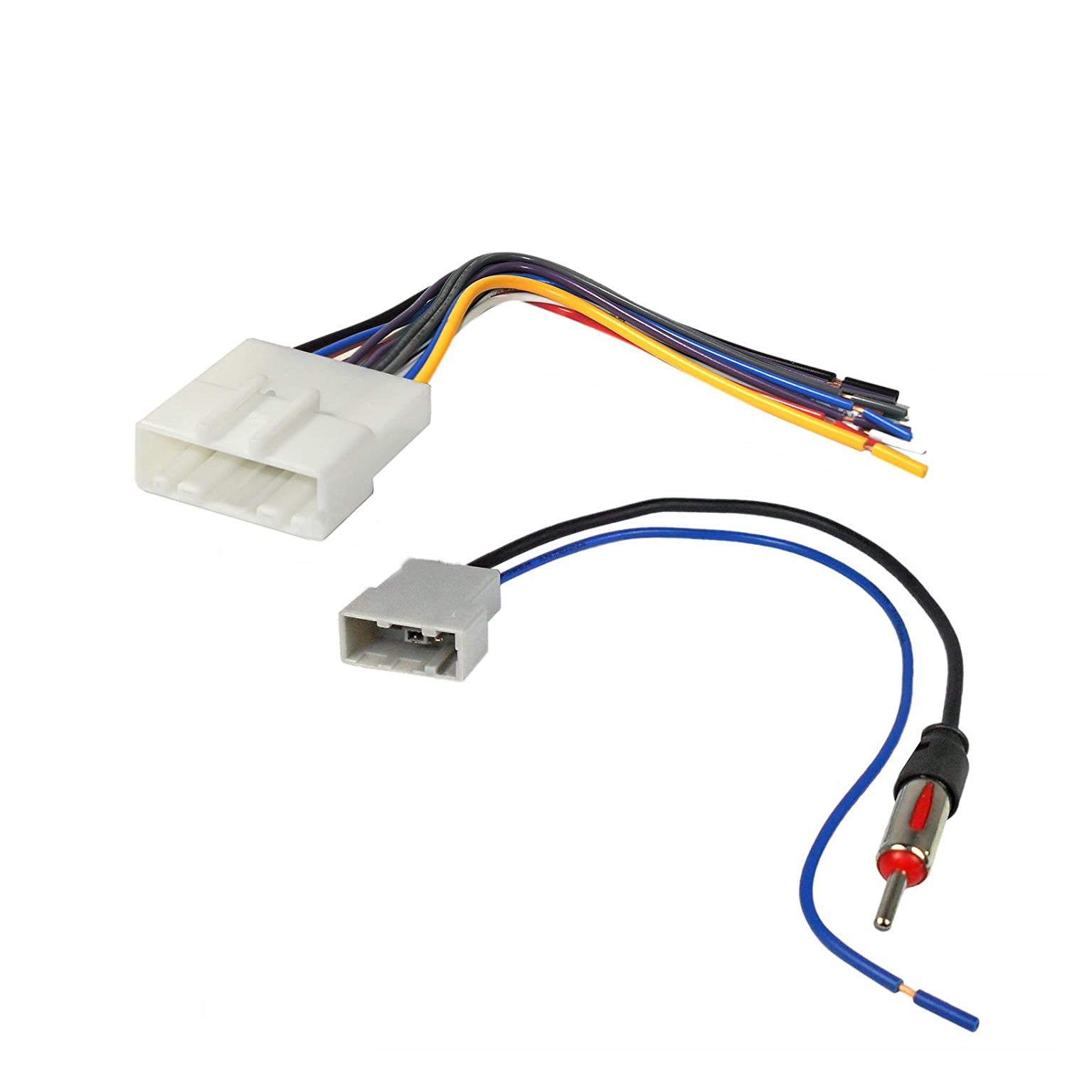 Car Stereo Cd Player Wiring Harness Adapter Plug For Nissan Subaru