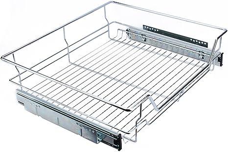 per cassetto della cucina Zerone con guida scorrevole 13.8 Cesto telescopico estraibile superficie di appoggio in metallo cromato