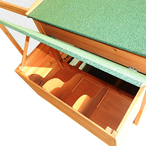 Pawhut 64'' Chicken Coop Hen House w/ Nesting Box and Outdoor Run by PawHut (Image #7)