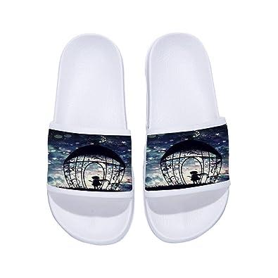 GordonKo Mens Slides Sandals Comfortable Antiskid Shower Soft Sole Slipper Athletic Shoes