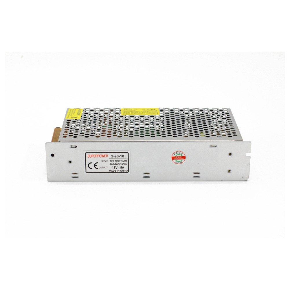 la Tira de LED Fuente de Alimentaci/ón Transformador de Potencia DC18V 5A 90W