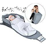 4 in 1 | Portable Bassinet | Foldable Baby Bed | with Light and Music Baby Lounger Travel Crib Infant Cot Newborn As A…