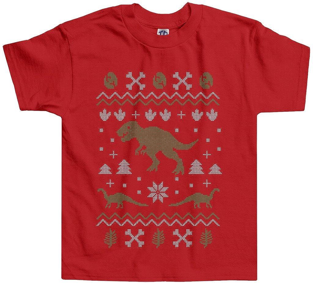 6b28375e5 Amazon.com: Threadrock Little Boys' Dinosaur Ugly Christmas Toddler T-shirt:  Clothing