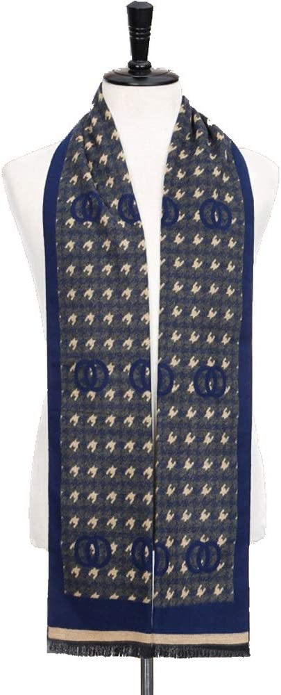Color : 2, Size : 18030CM Scarf Comfortable Practical Mens Autumn Winter Warm Scarf Striped Grid Neckerchief Tartan Scarves 18030cm