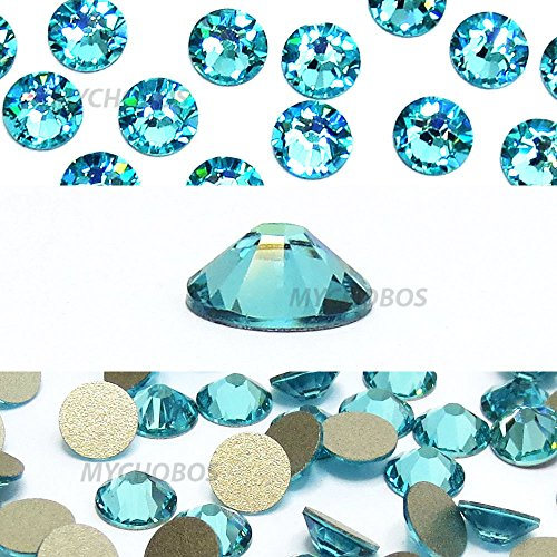 36 pcs Light Turquoise (263) Swarovski 2058 Xilion / NEW 2088 Xirius 30ss Flat backs Rhinestones 6.4mm ss30