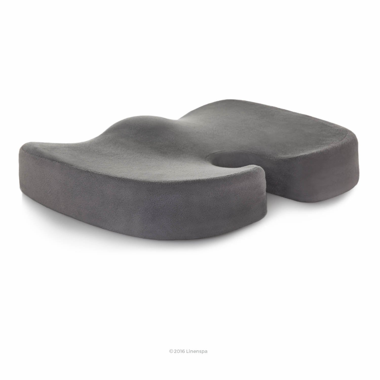 Amazon com black chair cushions - Linenspa Orthopedic Gel Foam Seat