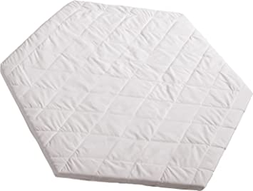 Colchon para parque roba, colchon para parque hexagonal, colchón acolchado blanco, diametro 120cm: Amazon.es: Bebé