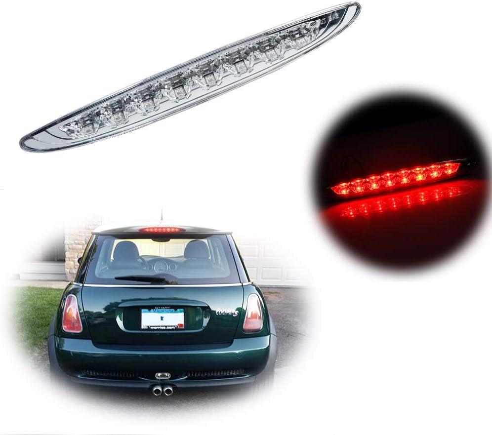 Miniclue Smoked Lens Rear High Mount 3rd Stop Brake Light For 2002-2006 Mini Cooper R50 R53 1st Gen