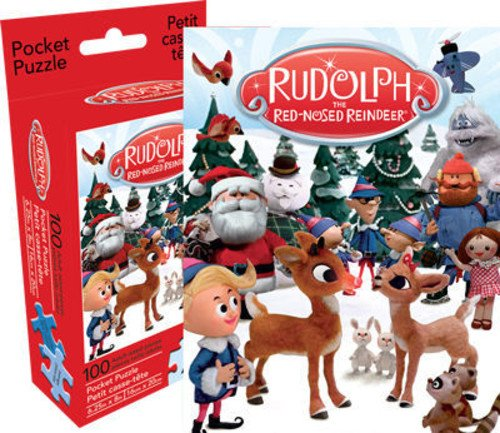 Aquarius Rudolph 100 Piece Adult Pocket Jigsaw Puzzle