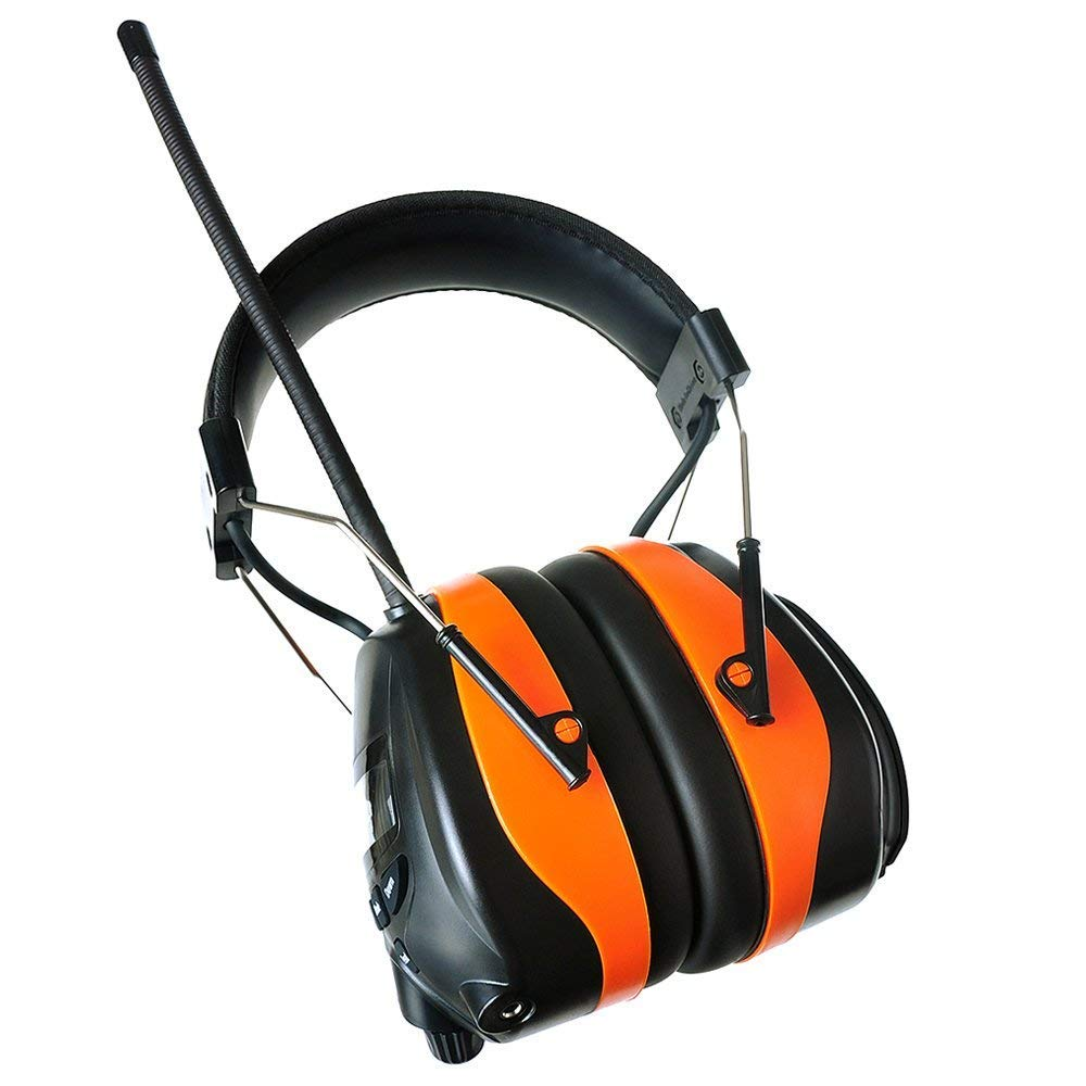 PROTEAR Bluetooth AM FM Radio Noise Reduction Safety Ear Muffs with Rechargeable Lithium Battery - Adjustable NRR 25dB Electronic Ear Hearing Protection lawn mower work headphones,with a Earmuff Clip by PROTEAR (Image #4)