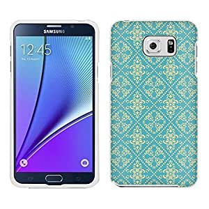 Samsung Galaxy Note 5 Case, Snap On Cover by Trek Victorian Gothic Beige on Teal Case
