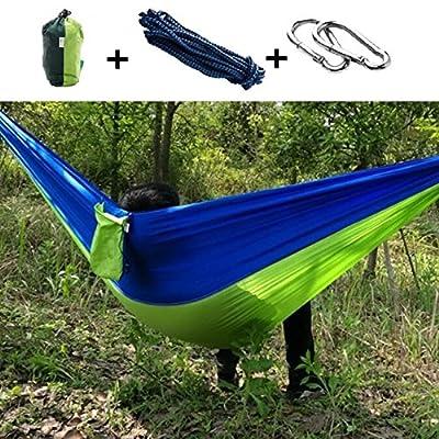 LJ&L Hamacs portables pour camping en plein air, hamacs en nylon à parachute, capacité maximale de palier de 300kg