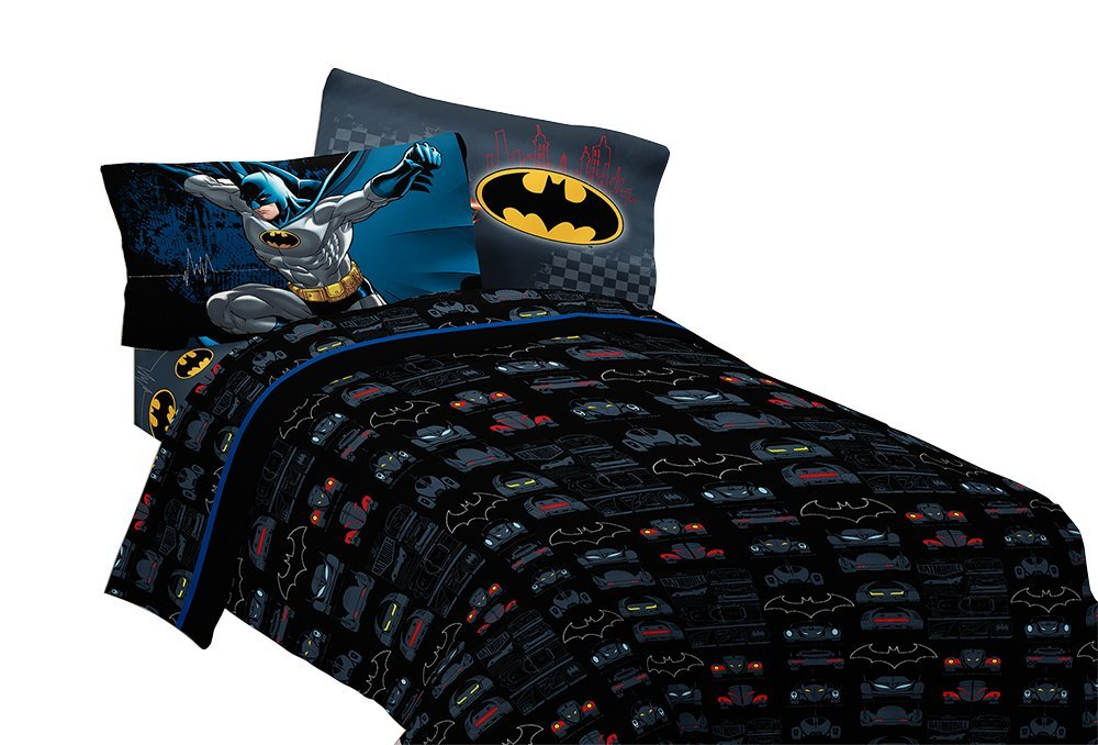 Warner Bros Batman Guardian Speed Microfiber Sheet Set, Full