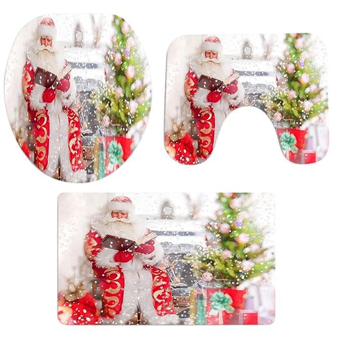 Rugs LEEDY - Alfombra de Ducha con Estampado navideño y ...