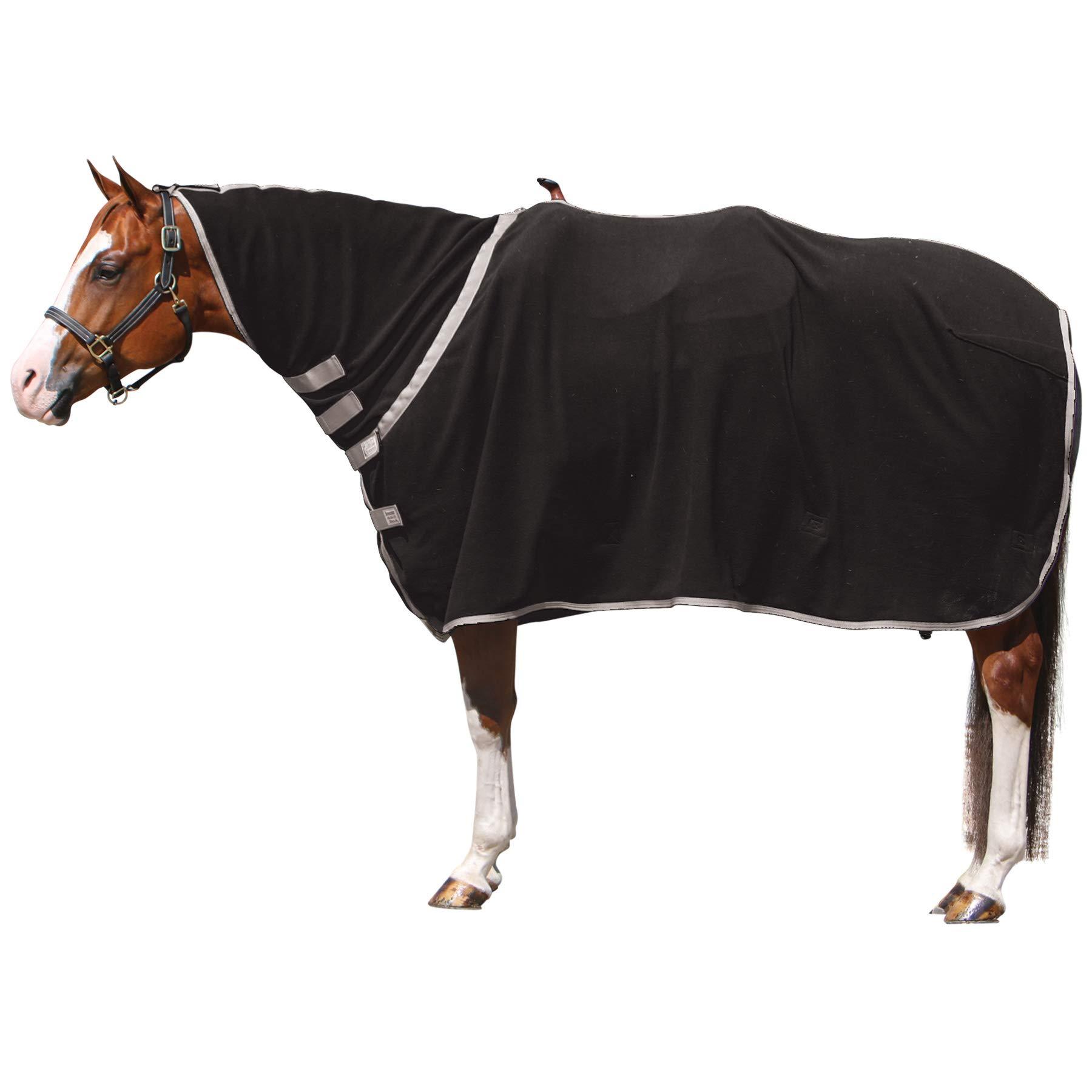 Schneiders Saddlery Dura-Tech Western Performance Contour Fleece Cooler (Large, Black)