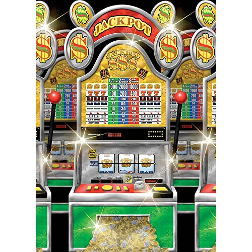 Amscan Casino Slot Machines Room Roll Party Wall Decoration, 1 Piece, Made from Vinyl, 4ft x 40ft by