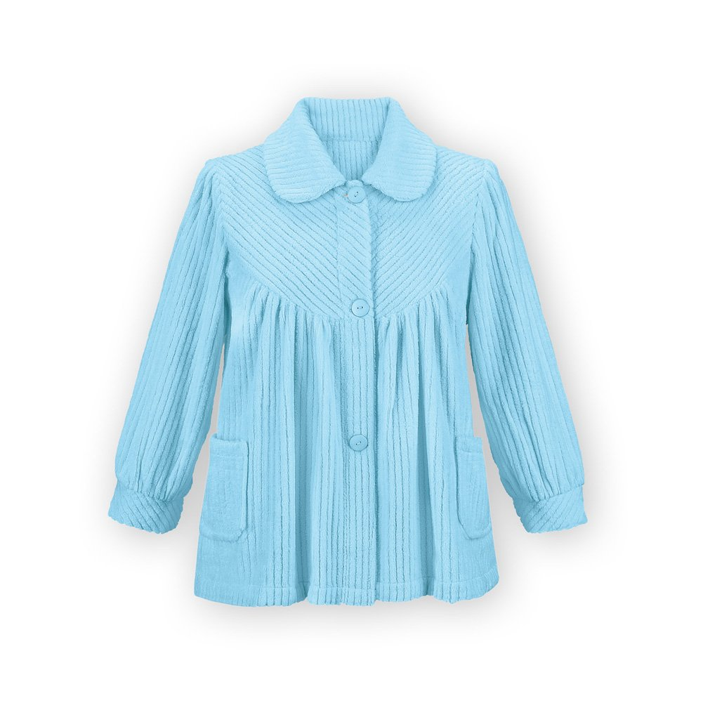 Collections Etc Women's Soft Fleece Bed Jacket Misses Light Blue Large, Light Blue, Large by Collections Etc