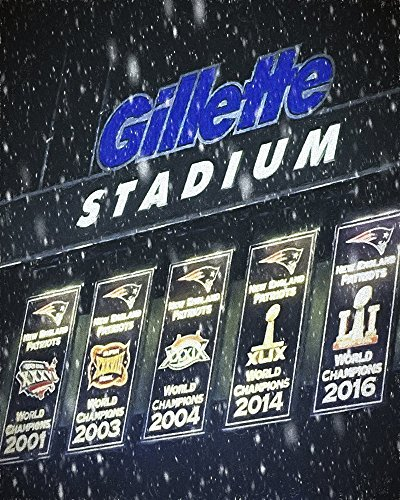 New England Patriots Poster - Gillette Stadium Photo Painting - Patriots Canvas Wall Decor - Choose Print or Canvas