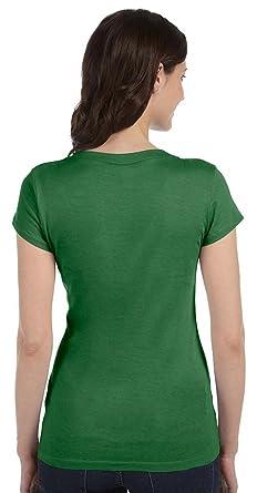 555ebd4e3e6 Bella Ladies 4 oz. Kimberley Sheer Rib Longer-Length T-Shirt at Amazon  Women s Clothing store