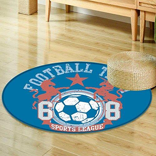 "Round Area RugFootball Team Indoor/Outdoor Round Area Rug-Round 24"""