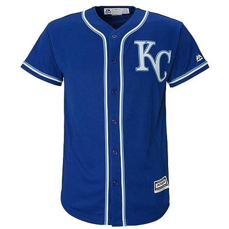 c1317fced Kansas City Royals Alternate Blue Cool Base Youth Jersey (youth medium  10-12)