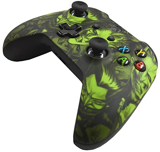 5000+ Modded Xbox One Controller for All Shooter Games - Soft Touch Shell - Added Grip for Longer Gaming Sessions - Multiple Colors Available (Scary ...