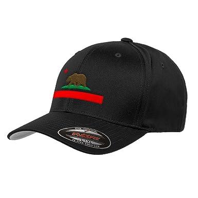 9269c493cb3 Chicago Flag Hats California State Flag Flexfit Premium Hat 6277 at Amazon  Men s Clothing store