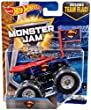 Hot Wheels 2017 Monster Jam - 1:64 Scale Truck with Team Flag - Superman