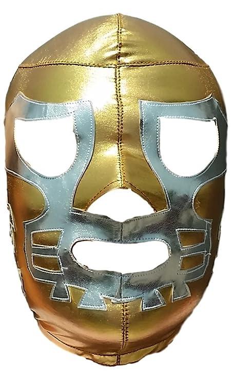 Amazon.com: Deportes Martinez Canek Lycra Lucha Libre Luchador Wrestling Masks Adult Size Gold/Silver: Clothing