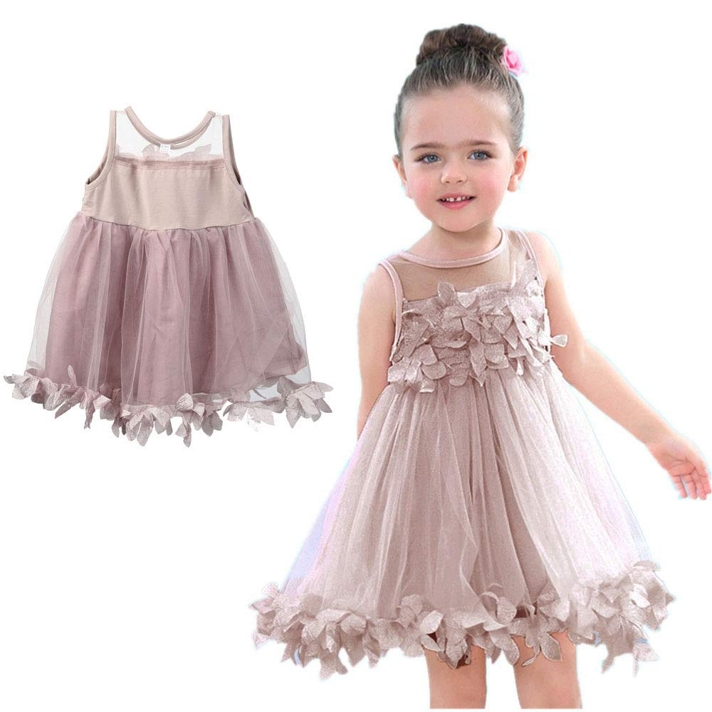 NEW Girls Kids Full Lace Floral One Piece Dress Child Girl Princess Party Dress