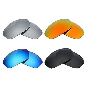 MRY 4 Pares polarizadas Lentes de Recambio para Arnette Freezer AN4155 Sunglasses-Stealth Negro/Fuego Rojo/Hielo Azul/Plata Titanio: Amazon.es: Deportes y ...