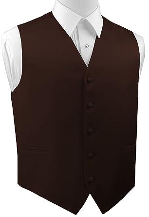 Brand Q Italian Design Men's Formal Tuxedo Vest in Chocolate at ...