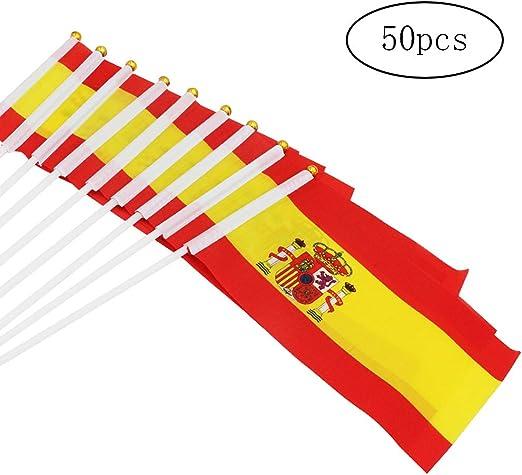 DierCosy España Palo de la Bandera 50PCS / Paquete Spainish Mano ...