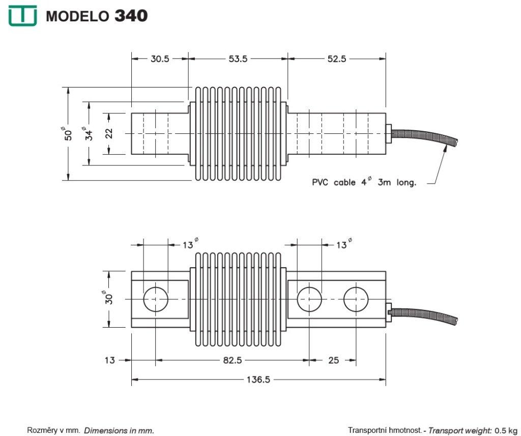 Célula de carga UTILCELL modelo 340 de 30KG: Amazon.es: Industria, empresas y ciencia