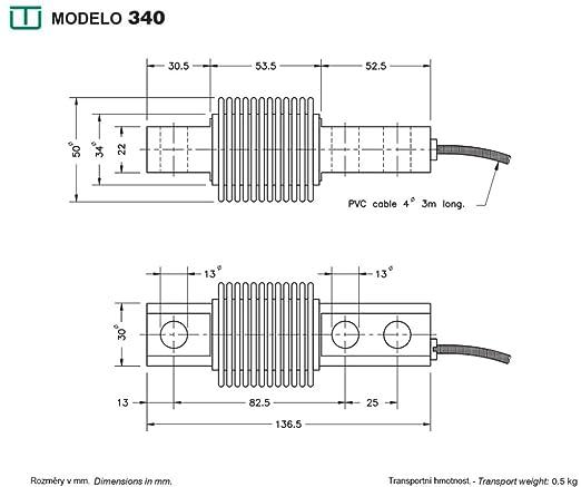 Célula de carga UTILCELL modelo 340 de 100Kg: Amazon.es: Industria, empresas y ciencia