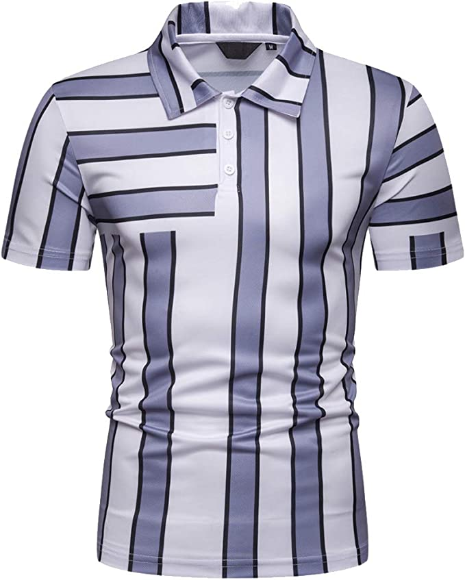 Pick SZ//Color. Nautica Mens Short Sleeve Slim Fit Striped Button Down Shirt M