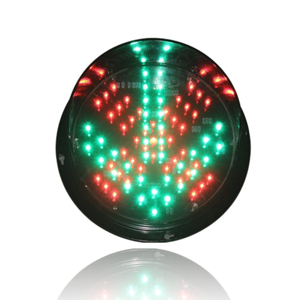 Wei De Mei LED 5 Inch 12V Red Cross Green Arrow Car Washing Stop Go Signal Light