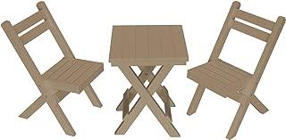 product image for Amish Poly Coronado Square Folding Bistro Set (Weatherwood)