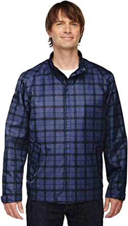Ash City Mens Locale Lightweight City Plaid Jacket