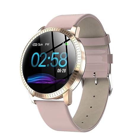QTEC Reloj Inteligente Reloj Elegante de Color Rosa con ...