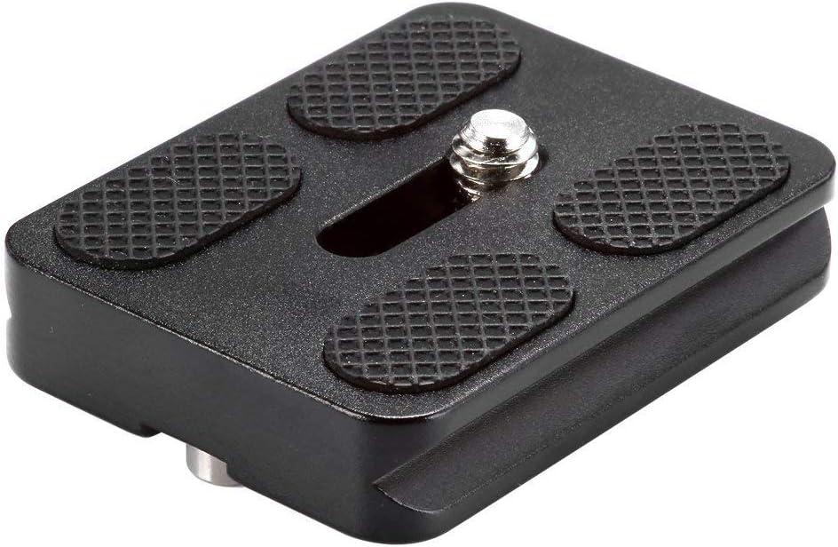 Neewer Black Metal PU-50 Universal Quick Release Plate يناسب معيار حامل ثلاثي القوائم (PU50 III)
