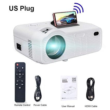 WHLDCD Proyector Mini proyector para iPhone, HDMI, VGA, 3500 ...